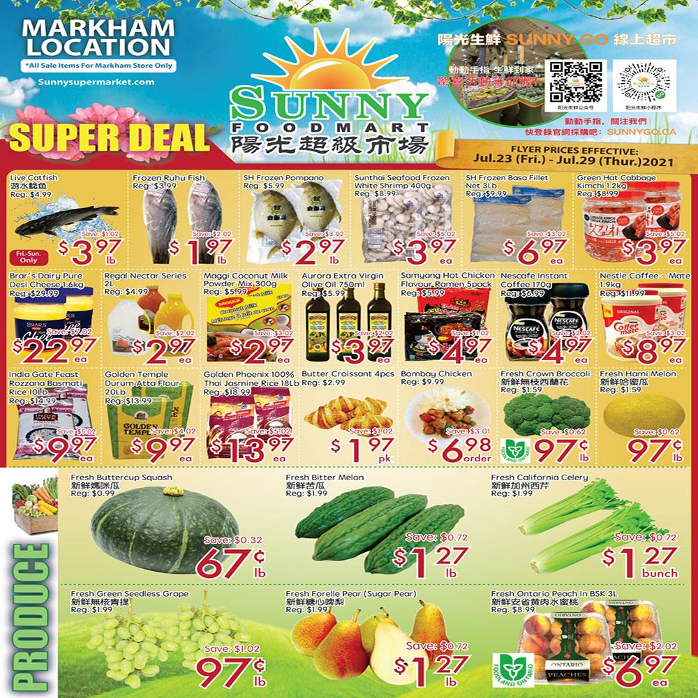 Sunny Foodmart Markham Flyer   Jul 23