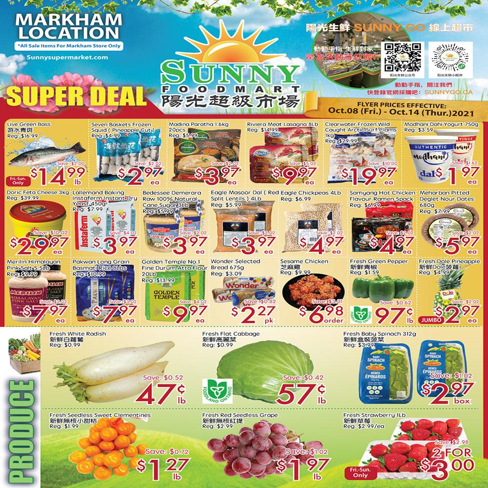 Sunny Supermarket Leslie Flyer   Oct 8