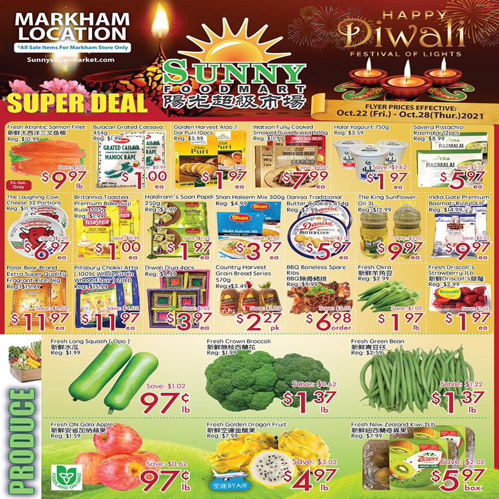 Sunny Foodmart Markham Flyer | Oct 22