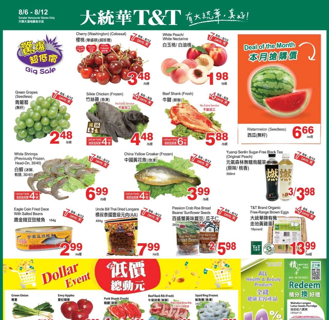 TNT Supermarket BC Flyer | Aug 6