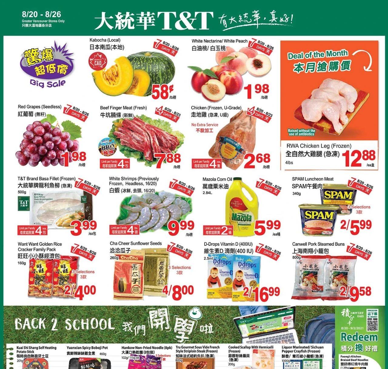 TNT Supermarket BC Flyer | Aug 20