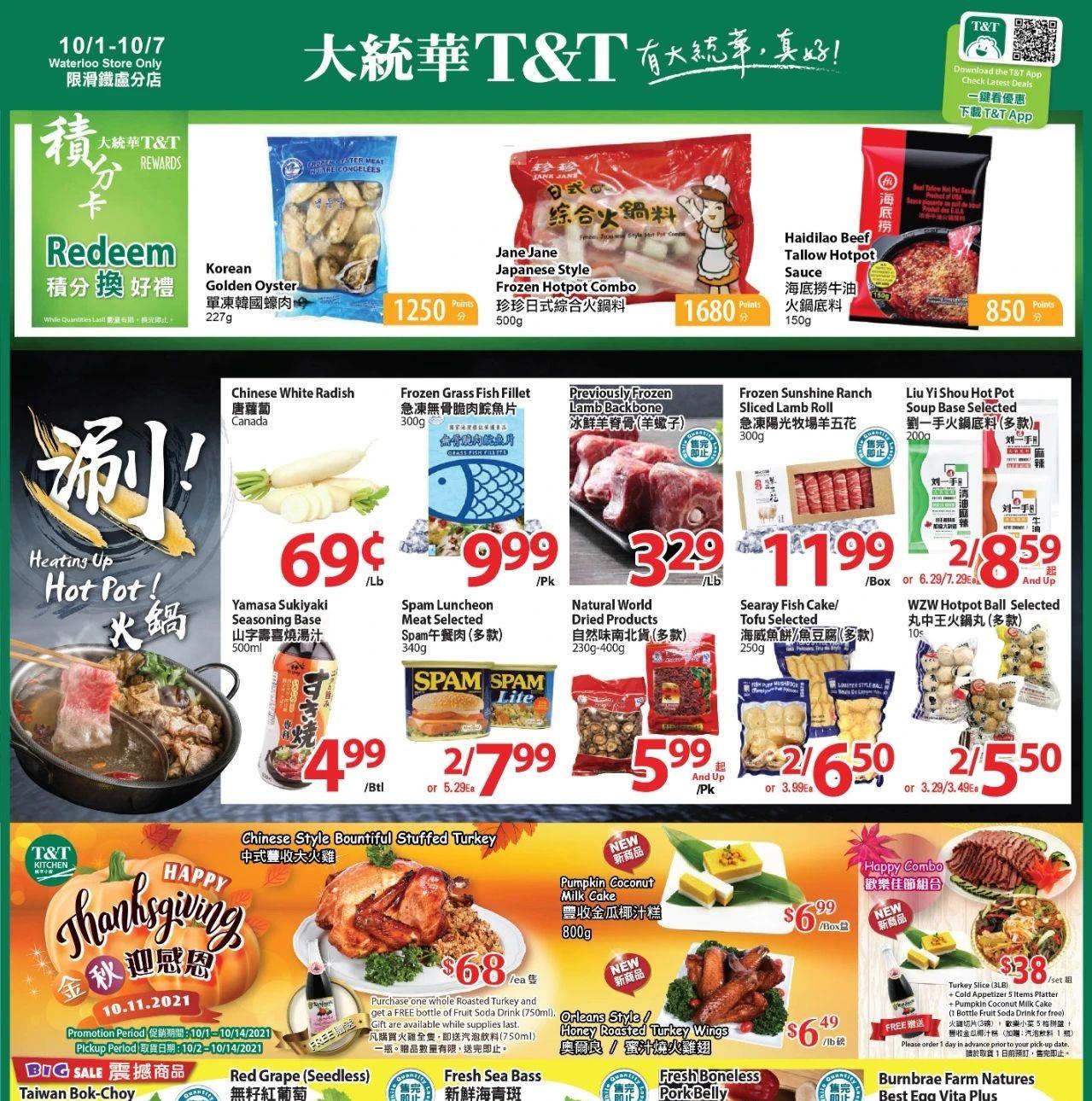 TNT Supermarket Waterloo Flyer   Oct 1
